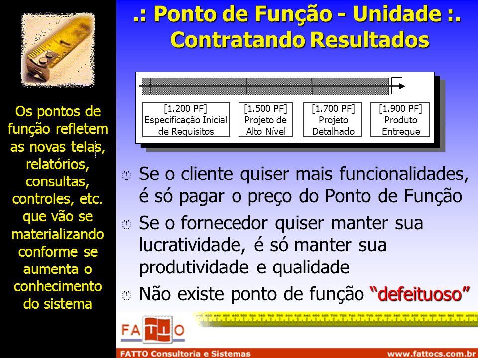 .: Ponto de Função - Unidade :. Contratando Resultados