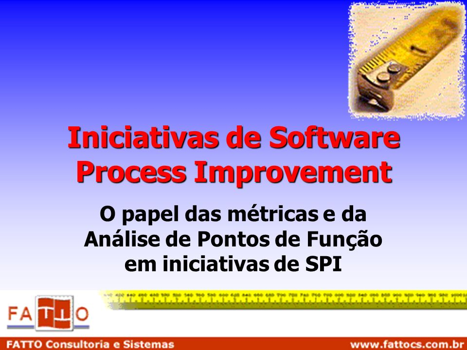 Iniciativas de Software Process Improvement
