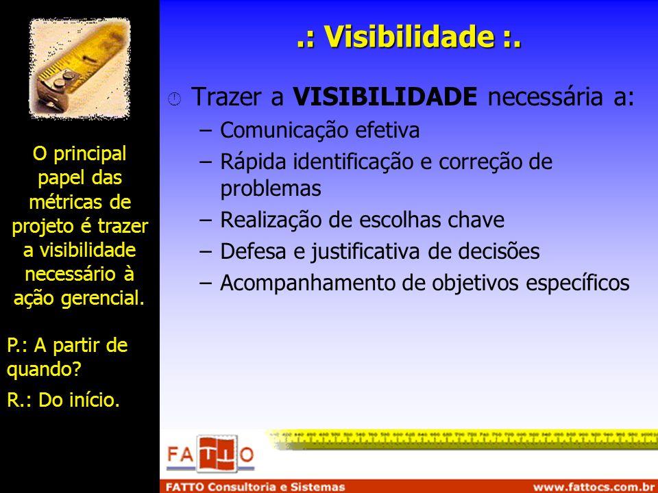 .: Visibilidade :. Trazer a VISIBILIDADE necessária a: