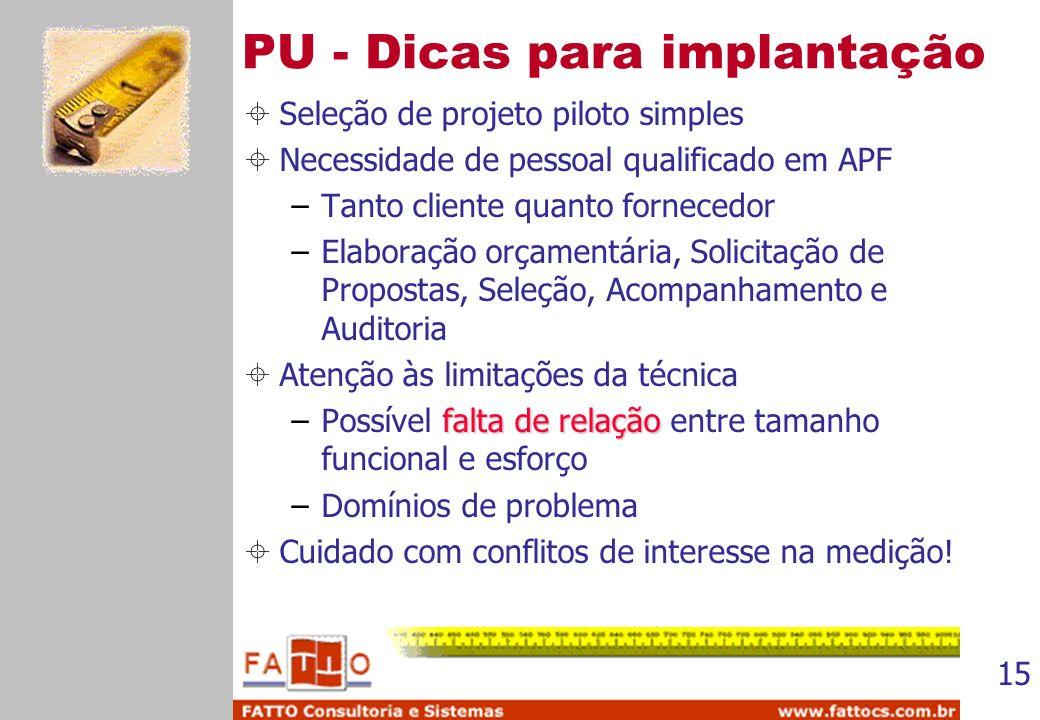 PU - Dicas para implantação