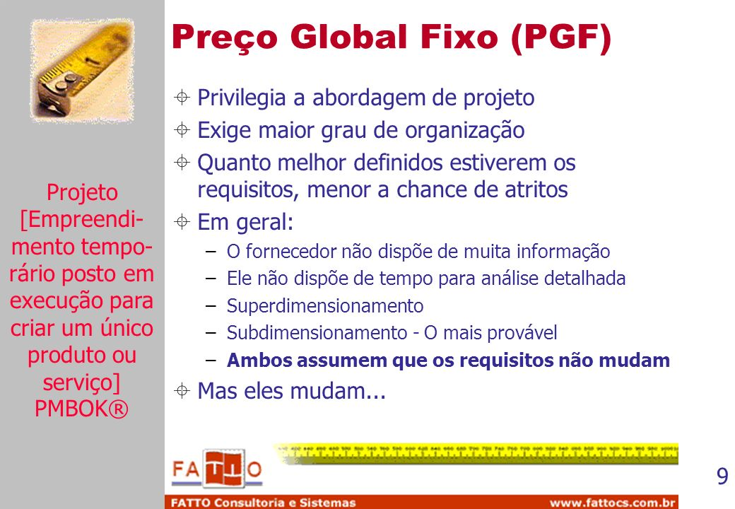 Preço Global Fixo (PGF)