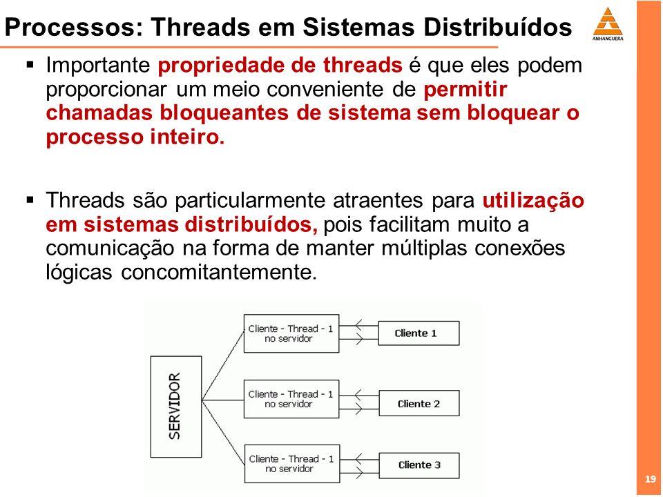 Processos: Threads em Sistemas Distribuídos