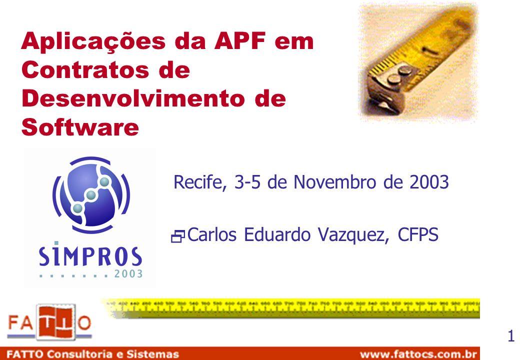 Aplicações da APF em Contratos de Desenvolvimento de Software