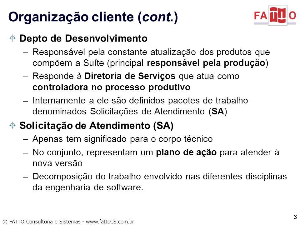 Organização cliente (cont.)