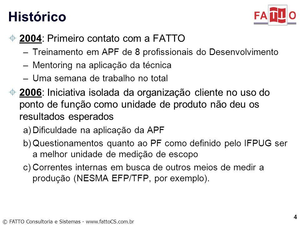 Histórico 2004: Primeiro contato com a FATTO