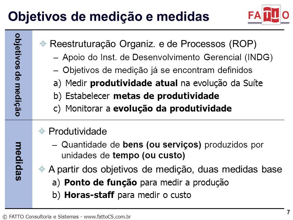 Objetivos de medição e medidas