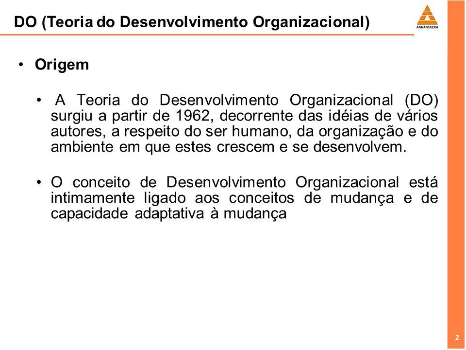 DO (Teoria do Desenvolvimento Organizacional)