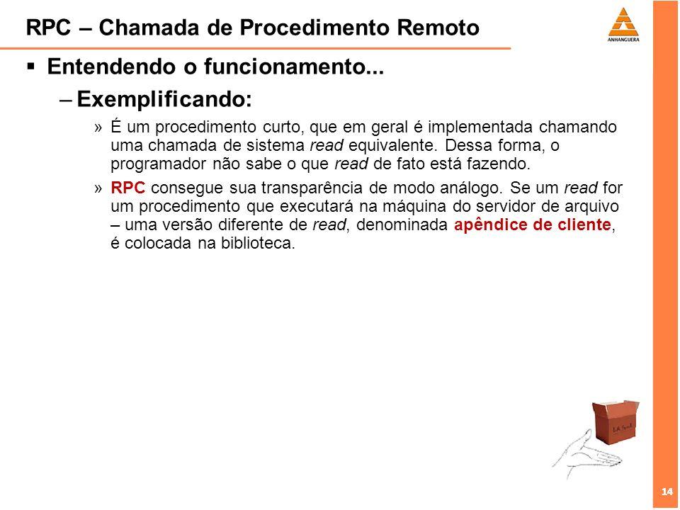 RPC – Chamada de Procedimento Remoto