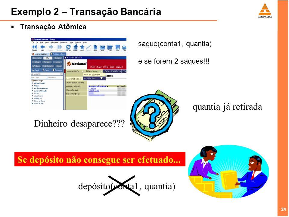 Exemplo 2 – Transação Bancária