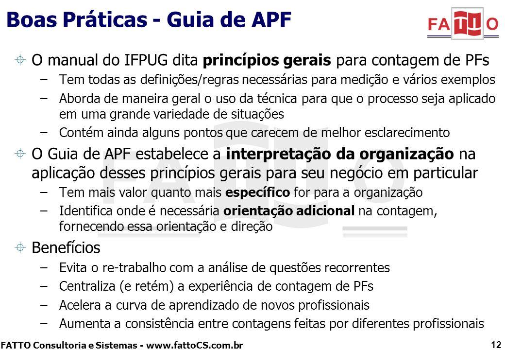 Boas Práticas - Guia de APF