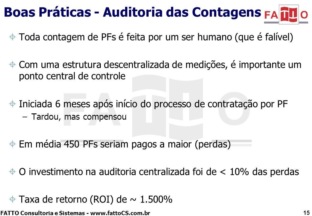 Boas Práticas - Auditoria das Contagens