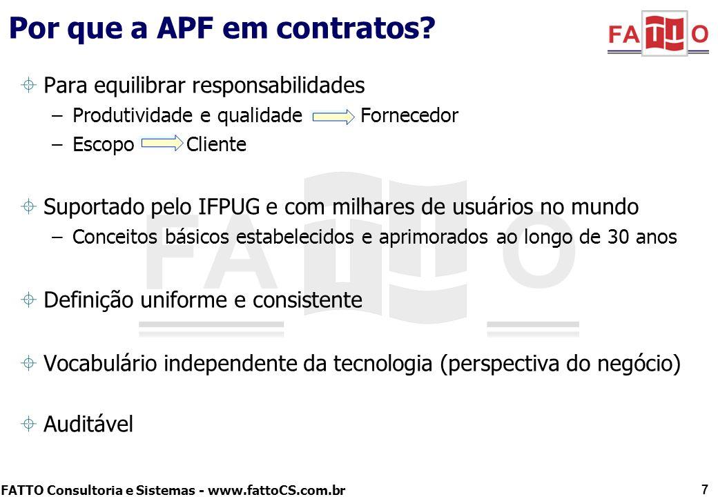 Por que a APF em contratos