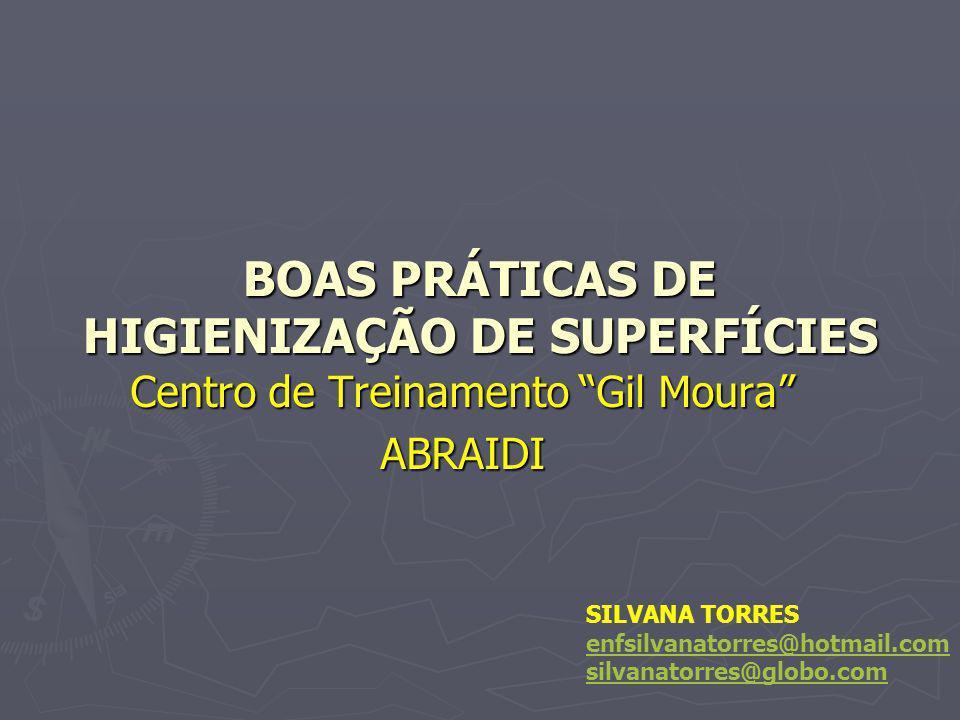 BOAS PRÁTICAS DE HIGIENIZAÇÃO DE SUPERFÍCIES
