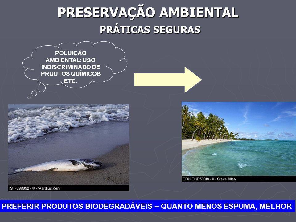 PRESERVAÇÃO AMBIENTAL PRÁTICAS SEGURAS