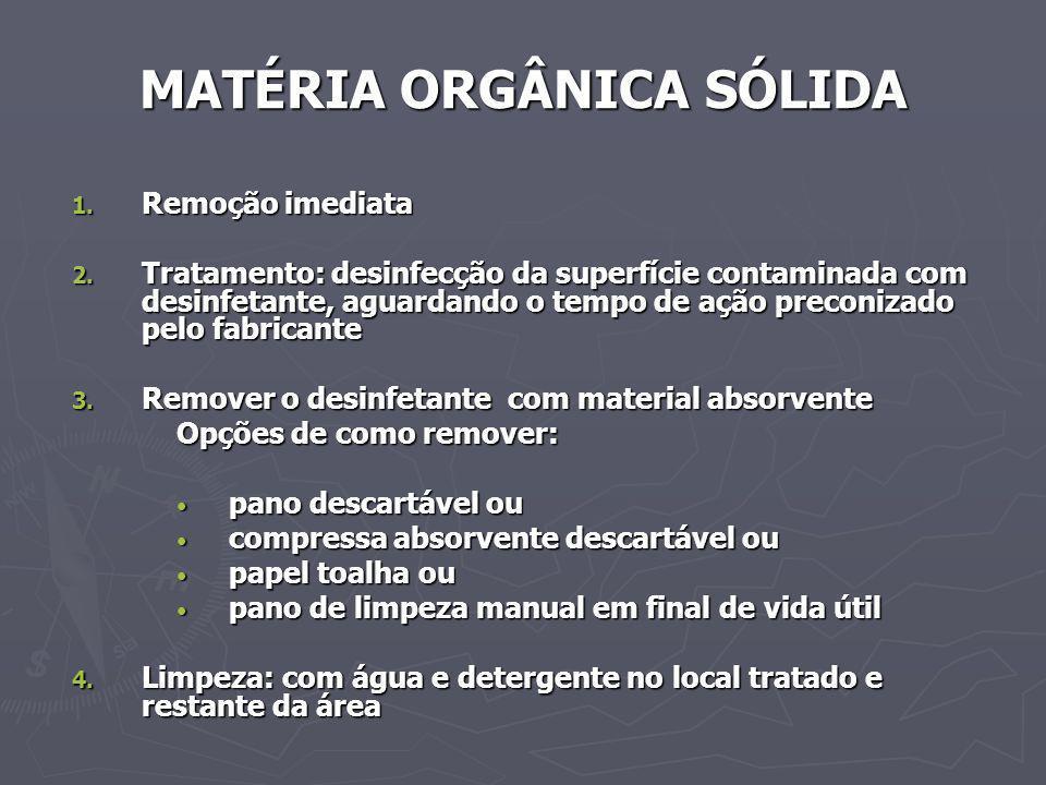 MATÉRIA ORGÂNICA SÓLIDA