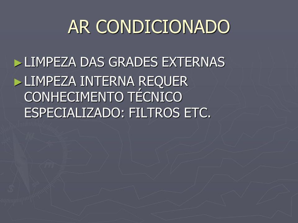 AR CONDICIONADO LIMPEZA DAS GRADES EXTERNAS