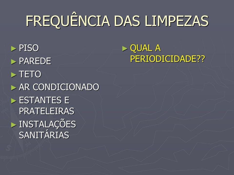 FREQUÊNCIA DAS LIMPEZAS