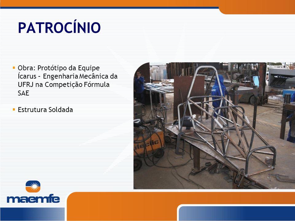 PATROCÍNIOObra: Protótipo da Equipe Ícarus – Engenharia Mecânica da UFRJ na Competição Fórmula SAE.