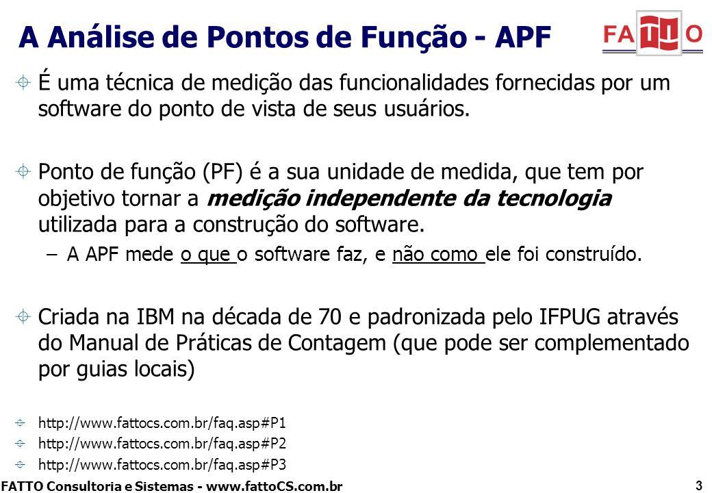 A Análise de Pontos de Função - APF