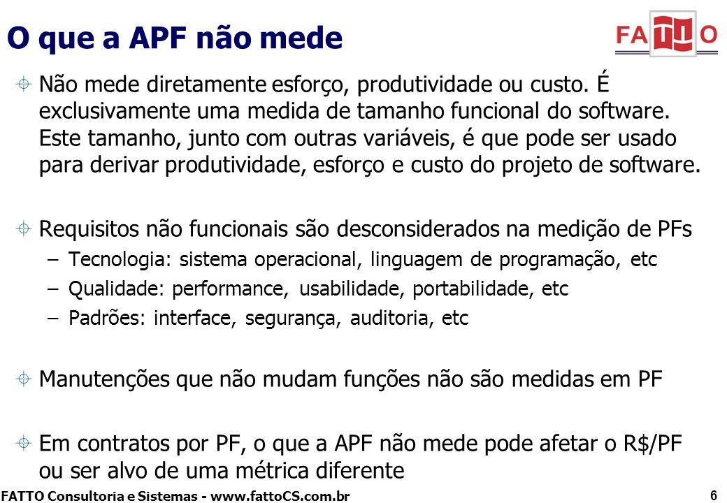O que a APF não mede