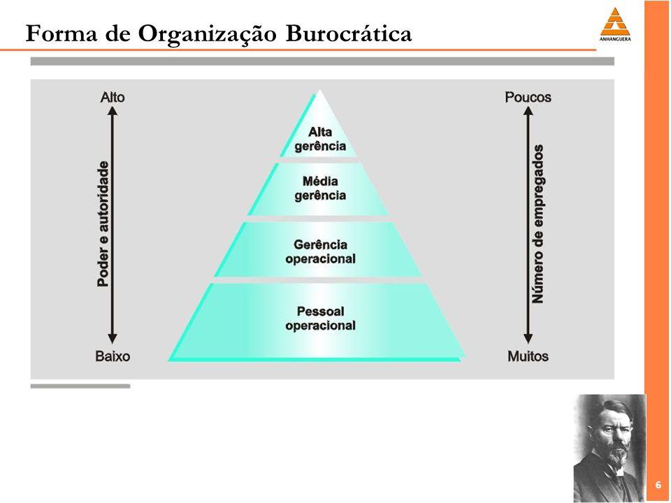 Forma de Organização Burocrática