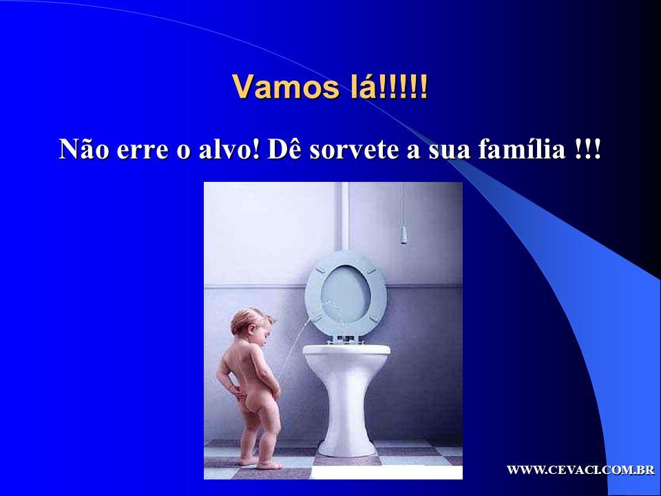 Não erre o alvo! Dê sorvete a sua família !!!