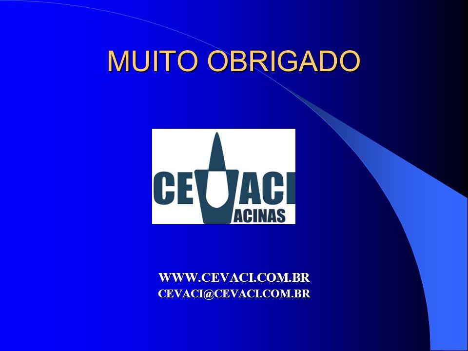MUITO OBRIGADO WWW.CEVACI.COM.BR CEVACI@CEVACI.COM.BR