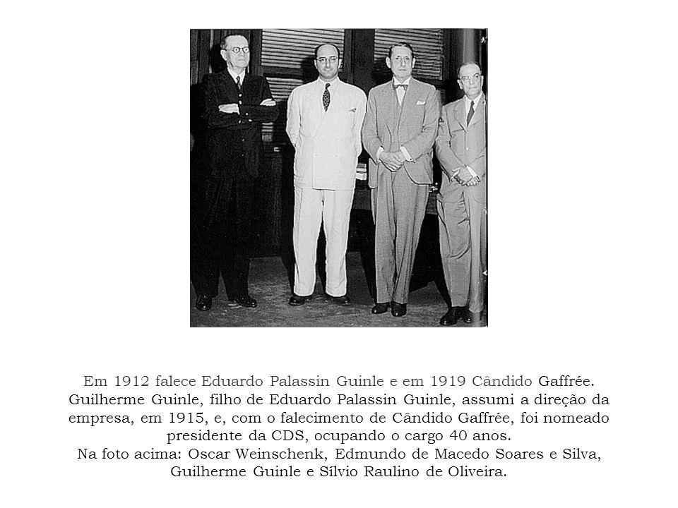 Em 1912 falece Eduardo Palassin Guinle e em 1919 Cândido Gaffrée