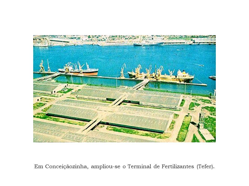 Em Conceiçãozinha, ampliou-se o Terminal de Fertilizantes (Tefer).