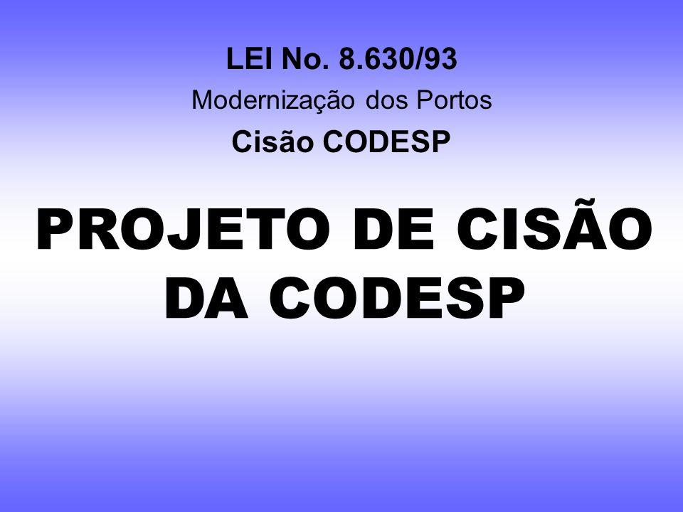 PROJETO DE CISÃO DA CODESP