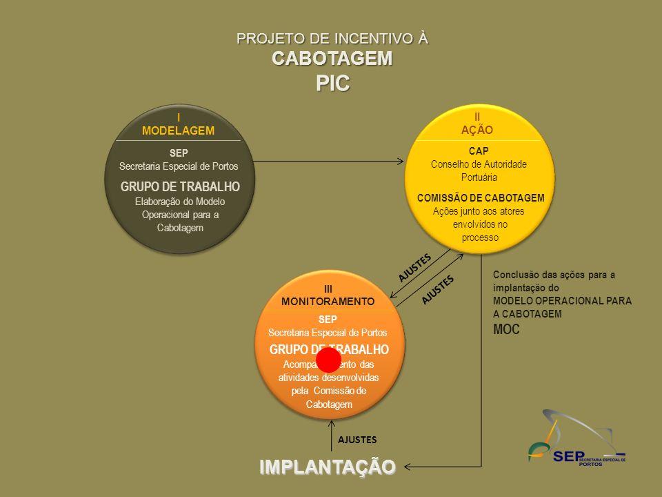 PIC CABOTAGEM IMPLANTAÇÃO PROJETO DE INCENTIVO À MOC GRUPO DE TRABALHO