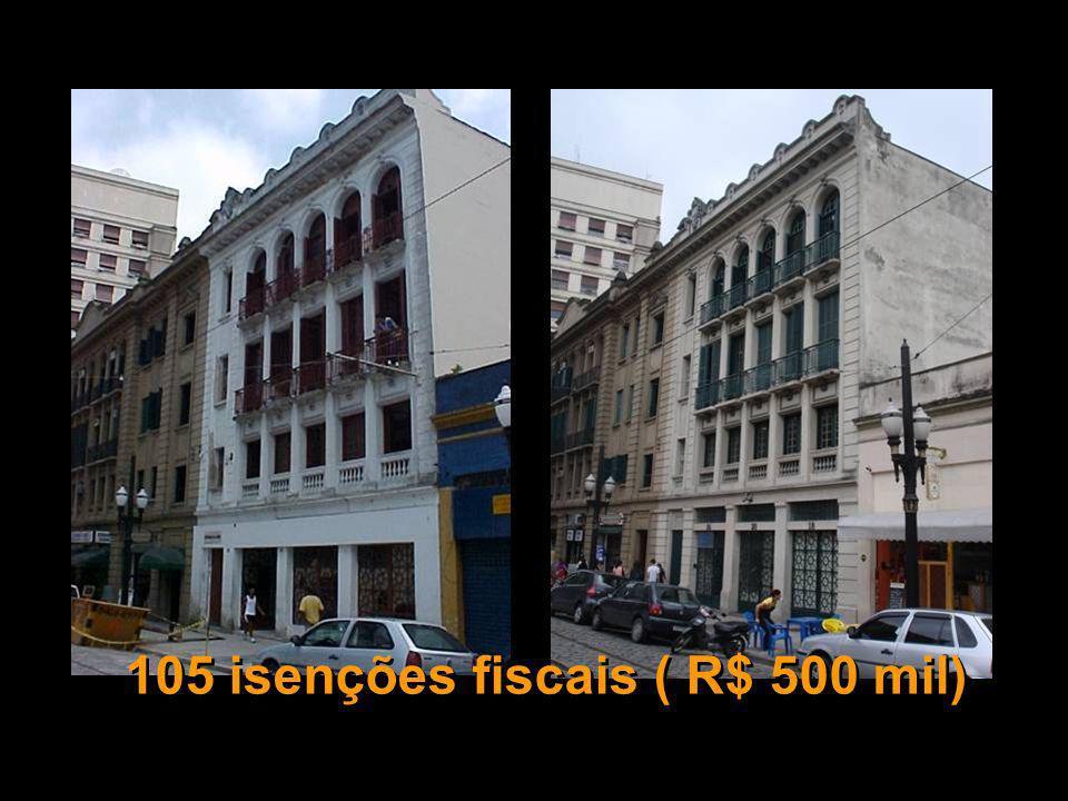 105 isenções fiscais ( R$ 500 mil)
