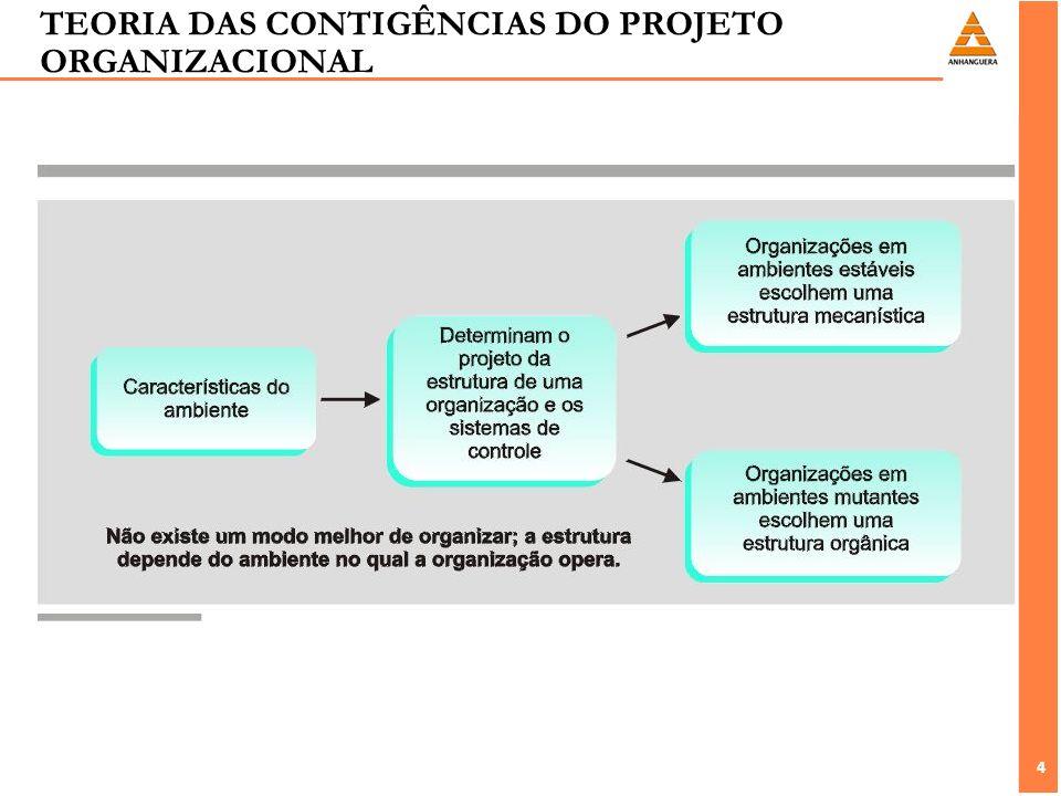TEORIA DAS CONTIGÊNCIAS DO PROJETO ORGANIZACIONAL