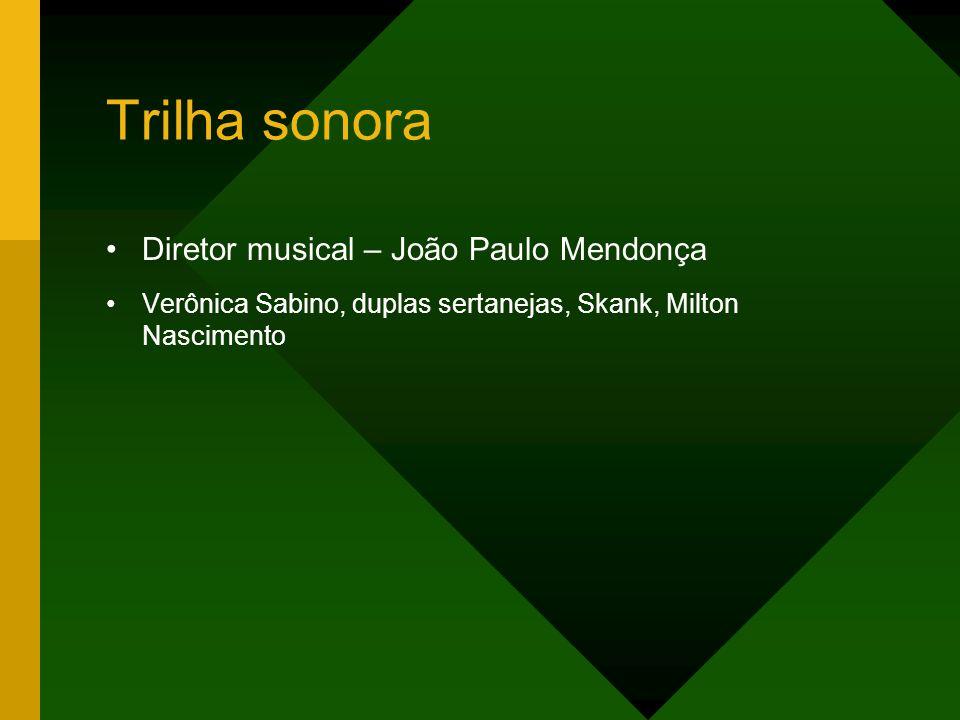 Trilha sonora Diretor musical – João Paulo Mendonça