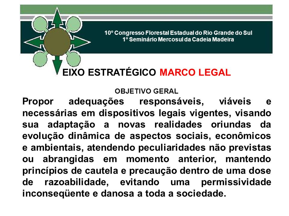 EIXO ESTRATÉGICO MARCO LEGAL