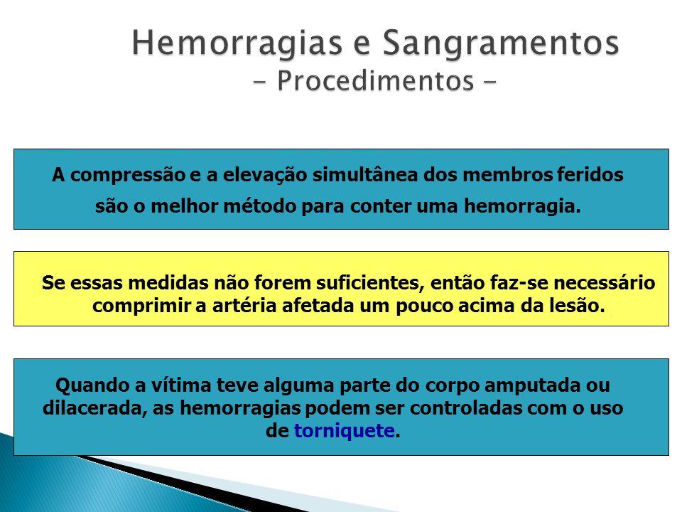 Hemorragias e Sangramentos - Procedimentos -