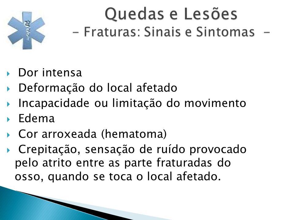 Quedas e Lesões - Fraturas: Sinais e Sintomas -