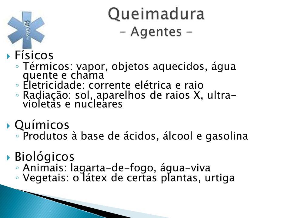 Queimadura - Agentes - Físicos Químicos Biológicos