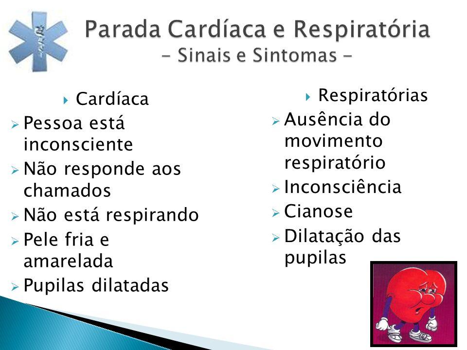 Parada Cardíaca e Respiratória - Sinais e Sintomas -