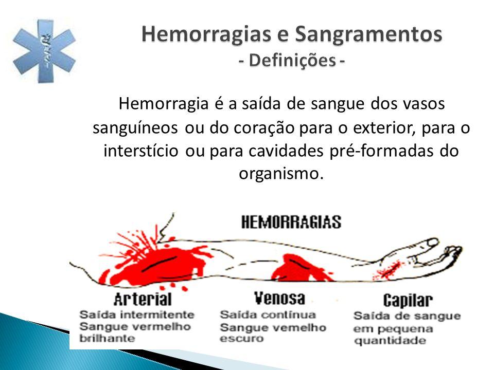 Hemorragias e Sangramentos - Definições -