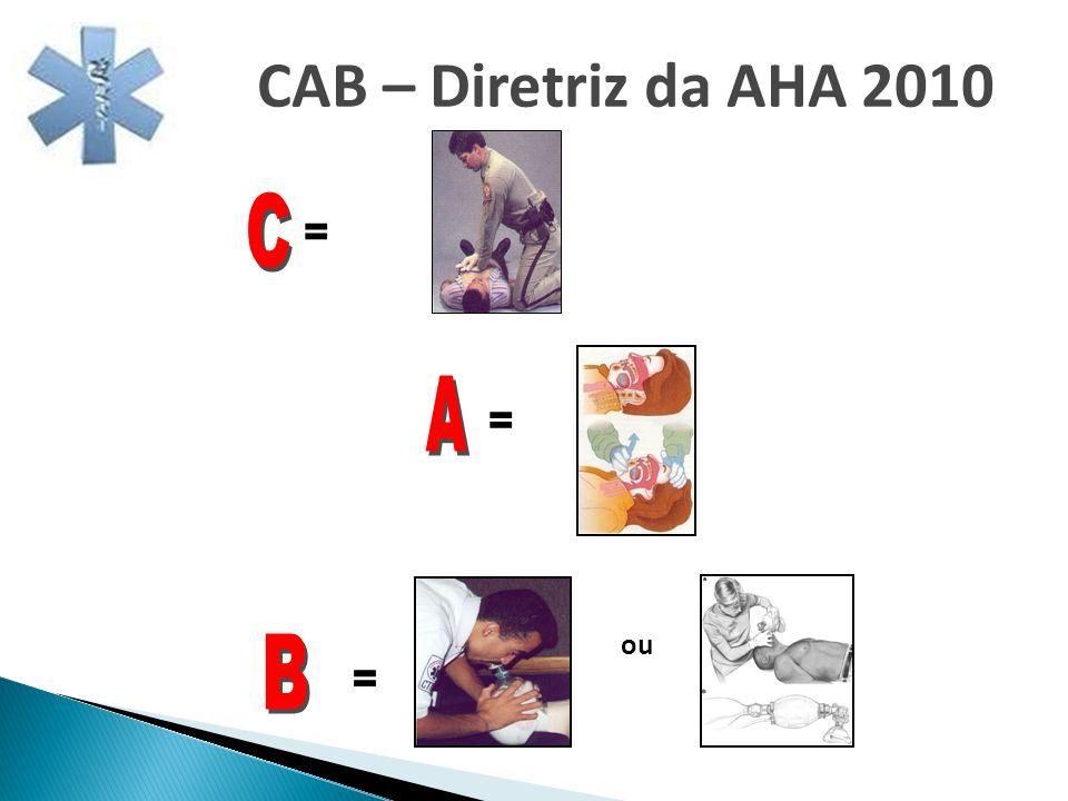 CAB – Diretriz da AHA 2010 C = A = ou B =