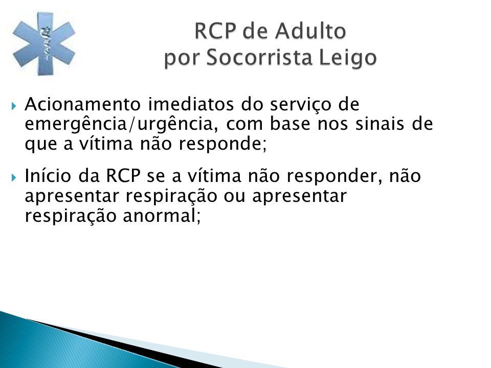 RCP de Adulto por Socorrista Leigo