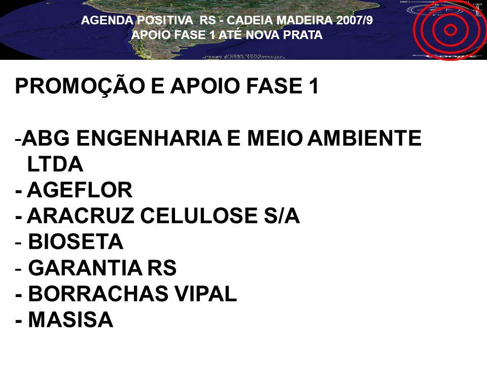 AGENDA POSITIVA RS - CADEIA MADEIRA 2007/9 APOIO FASE 1 ATÉ NOVA PRATA