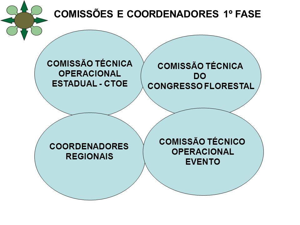 COMISSÕES E COORDENADORES 1º FASE