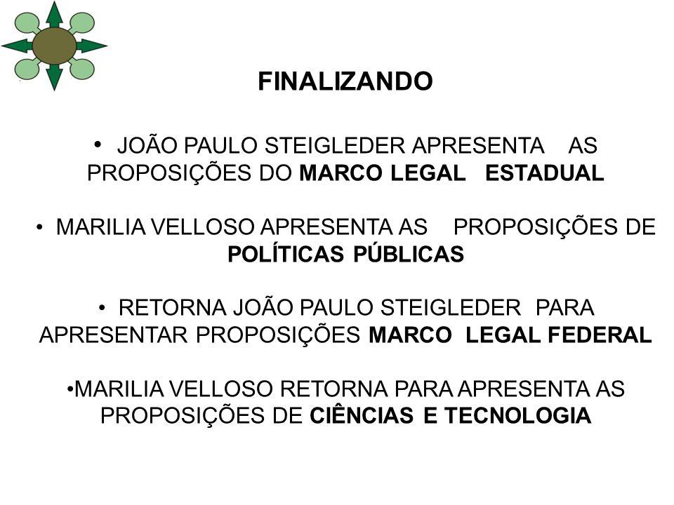 JOÃO PAULO STEIGLEDER APRESENTA AS PROPOSIÇÕES DO MARCO LEGAL ESTADUAL