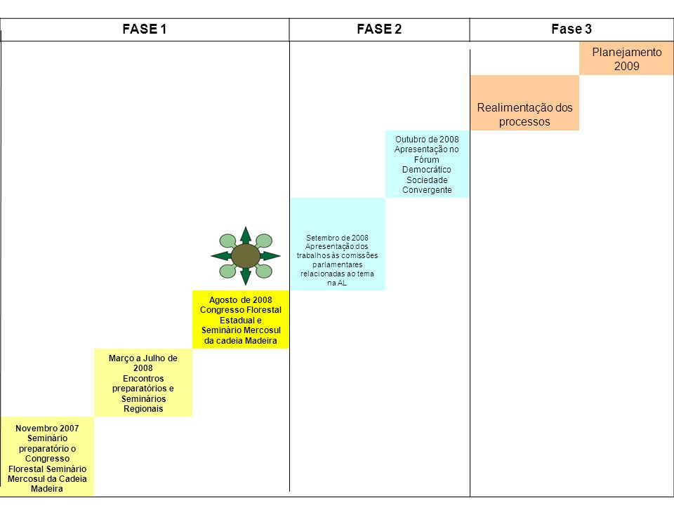 Março a Julho de 2008 Encontros preparatórios e Seminários Regionais