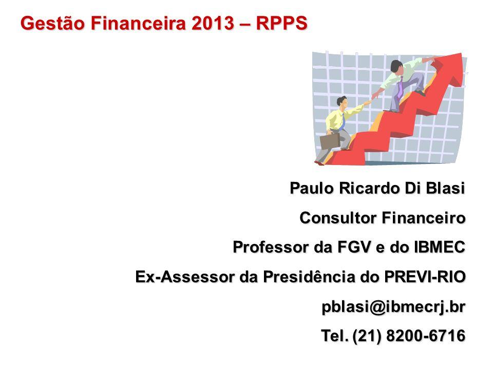 Gestão Financeira 2013 – RPPS