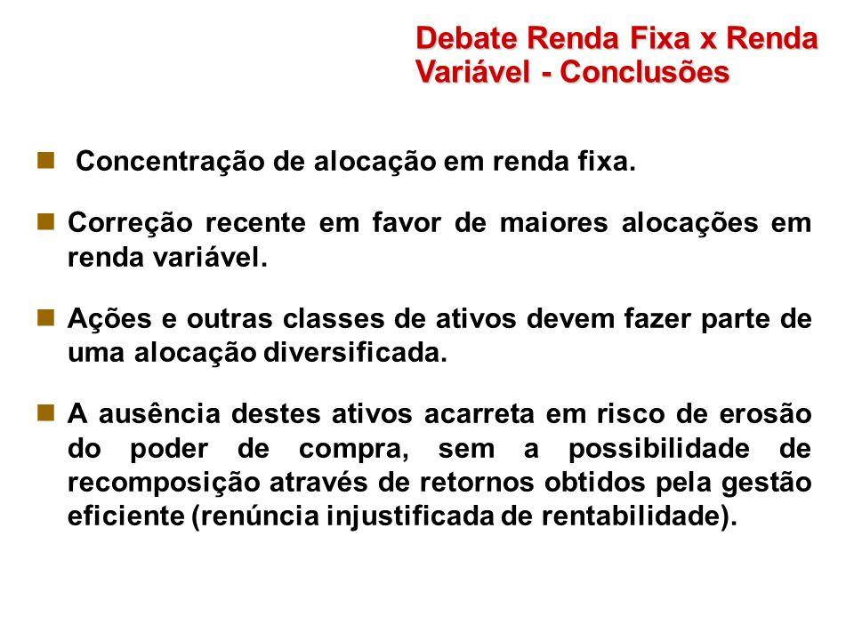 Debate Renda Fixa x Renda Variável - Conclusões