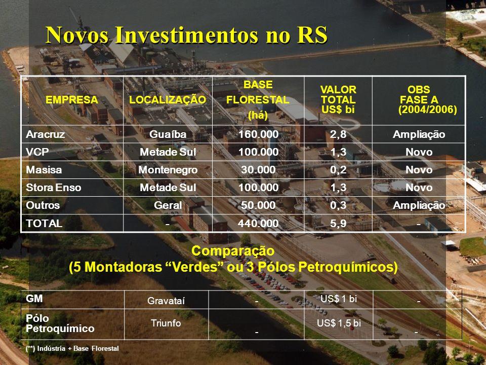 Novos Investimentos no RS