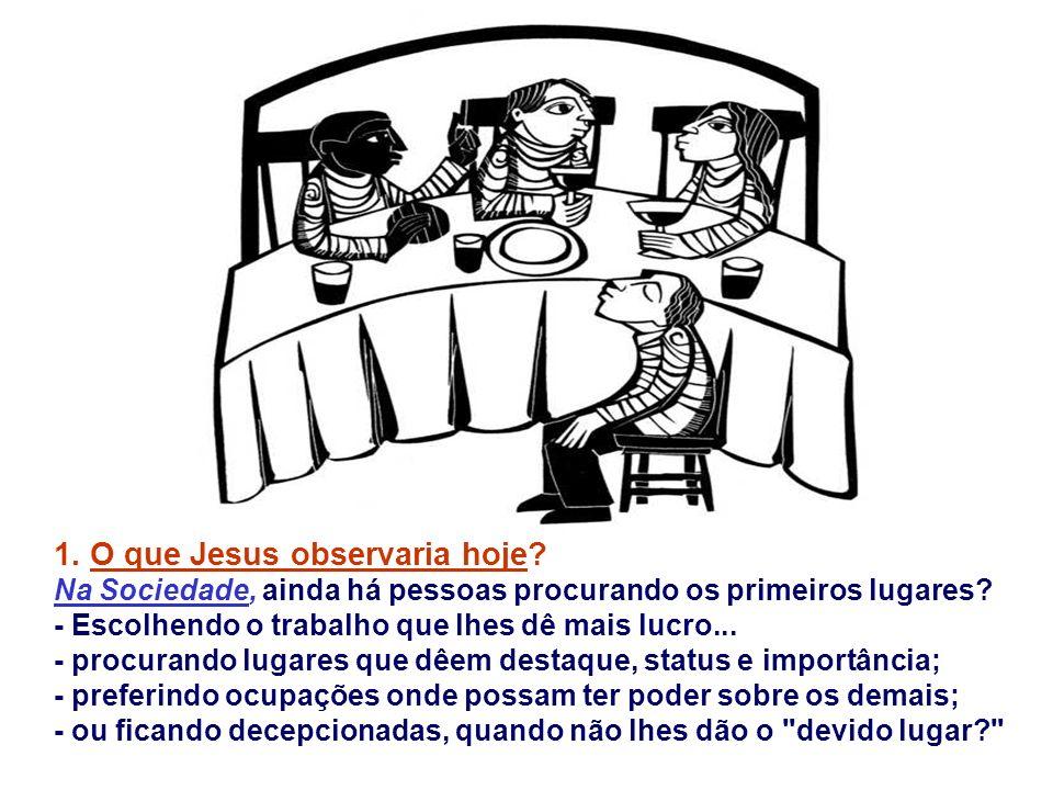 1. O que Jesus observaria hoje